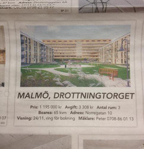 innergård i Malmö