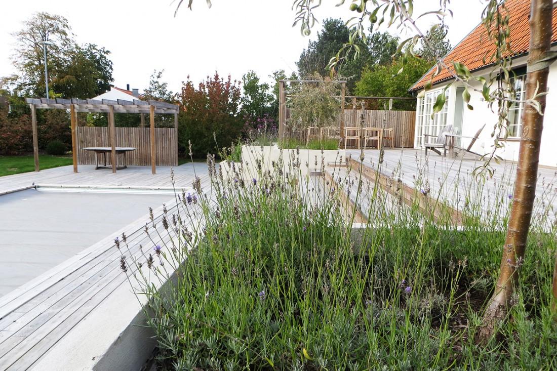 Trädgårdsrum som ger flera rum