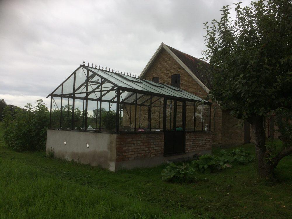 Växthus på plats