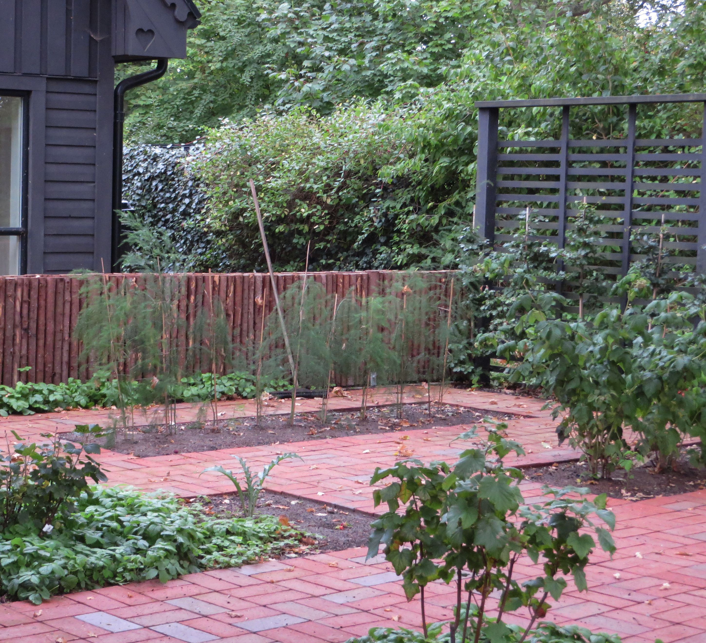 Trädgårdsrum med köksträdgård
